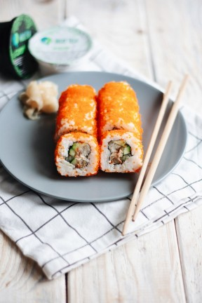 California Roll with Eel