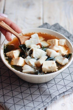 Miso Soup with Sea Bass